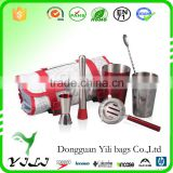 Bartender Set Wine Tools bag Bar Drink Cocktail Mixer Mixing Kit w/Carry Case                                                                         Quality Choice