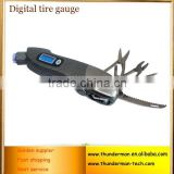 Multifunction 150PSI digital tire pressure gauge with Blue LED back light, Multifunction digital tire pressure gauge