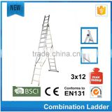 wooden ladder golf with EN131 santa claus climbing rope ladder