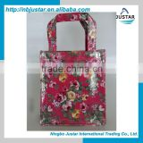 Festival canvas flower shopping bag happy new year gift bag canvas beauty shopping bag