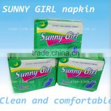 sunny girl napkin Sanitary Napkin day and night usage 10 pads 5 mini pads for free cotton cover series