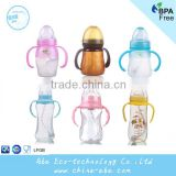 2016 Wide Neck Food Grade Non-toxic Drop Resistance Soft Silicone Baby Bottle Bpa Free Infant Baby Feeding Milk bottles Supplier