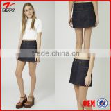 Classic and fashion denim skirts for women casual wear, wholesale indigo denim skirts denim fashion overalls china suppliers