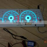 High brightness & Good quality EL glow Car gauge/ EL glow auto gauge / el car dash board