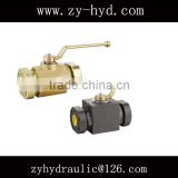 KHMG high pressure ball valve SAE mating Flange