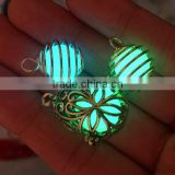 2016 China jewelry wholesale hollow out luminous stone pendant necklace glow necklace luminous ball necklace