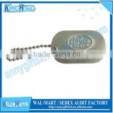 Aluminum tags with short bead chain