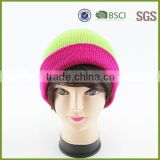 Neon Color Custom Winter Hats organic cotton beanies