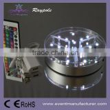 Battery powered 15cm round shape flower stander vase LED centerpiece uplighter base light