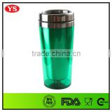 Outer Plastic and Inner Stainless steel Insulated stainless steel travel mug for promotion