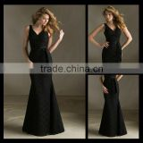 Wholesale Shoulders Black Ribbons Lace Gown Bridesmaid Dresses bm0005