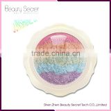 Hot highlight makeup rainbow eyeshadow round eyeshadow palette