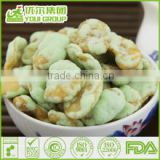 HACCP,ISO,BRC,HALAL Certification Wasabi Broad Bean Chips Snacks