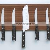 PRACTICAL WOODEN KNIFE HOLDER MAGNETIC WALL STRIP WITH FIXINGS KITCHEN