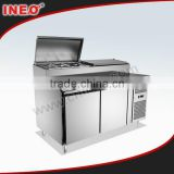 304 Stainless Steel Commercial Restaurant Sandwich Refrigerator/Sandwich Prep Table/Refrigerated Sandwich Bench