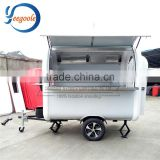 Yeegoole Gas/Electric Mobile Fast Food Vending Ice Cream Fried Trailer/Cart Popcorn CE