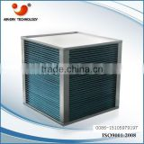 Heating unit air to air heat exchanger with air condition for plates