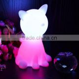 Night Sleeping led night lamp Cat LED Children Animal Night Light Soft PVC Cartoon Baby Nursery Lamp