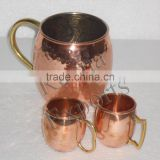 2 Ounce Moscow Mule Shot Mugs or Copper Shot Glass Cup, Moscow Mule Mug Mini Mug 1 or 2oz