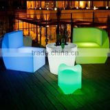 remote control wholesale nightclub furniture led bar sofa /led furniture sofa with cushion