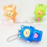 Promotional Custom Made plastic Keychain, face doll plastic keychain, Custom Made 3D plastic keychain