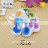Wholesale vintage decorative small flower bead center handmade sequin applique children clothes