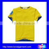 China bulk sale cotton t shirt wholesale kids plain solid color o neck t shirts for 14 boys