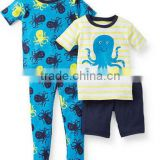 baby boy's 4 piece animal print cotton pajamas in cheap price
