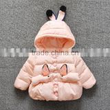 2016 Winter Clothing New Design Thicken Cartoon Children Girl Coat Wholesale