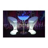 Wireless Rechargeable Bar , nightclub led furniture illuminated table and chair for Indoor