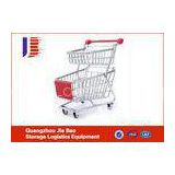 Sturdy And Durable Supermarker Shopping Carts For Hand-Baskets Two Layer