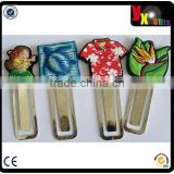 Crazy new design silicone rubber or soft pvc bookmarks for kids
