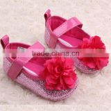 fancy big flower infant baby newborn shoes