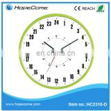 (HC2310-D) 24 hours decorative atomic in/out thermometer Mini Metal Twin Bell Alarm wall clocks Clock Face Cover manufacturer