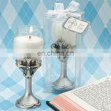 Newest Resin cross craft Glass candle cup wedding give away gifts