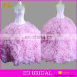 Vintage Pink Sleeveless Lace Up Customized Sweet 16 Ball Gown Quinceanera Dresses