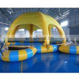 Hot sale Inflatable Swimming Pool With Yellow Tent & Bouncer for kids & water toys