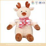 Custom cute plush stuffed christmas reindeer toys