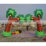 inflatable palm tree promotional arch gantry with customized design
