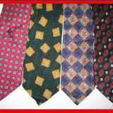 Red High Stitches Mens Jacquard Neckties Standard Length Self-fabric