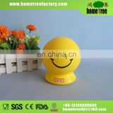 Lovely smile face plastic coin box