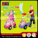 Popular series kids ride on toys lovely dog glide car in 2016 children scooter car 4 free wheel & go-cart