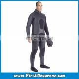 Freediving Underwater Hunting 3.5mm Double Sided Neoprene CR Smooth Skin Spearfishing Wetsuits With Hooded Set
