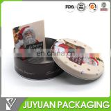 Direct factory christmas round gift tin box wholesale