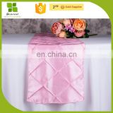 taffeta dinner table runner for wedding banquet decoration