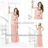 Ankle-length Sleeveless Strapless Princess Chiffon A-line Bridesmaid Dress