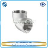 Threaded 90 elbow stainless steel Class 150 conform to ASTM A351 cast pipe fitting
