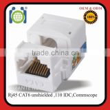 Heavy duty Cat6 RJ45 Keystone modular jack for patch panel