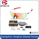 Excellent Quality Removable Gasket Windproof Antiskid Outdoor sporting sunglasses with box and accessories