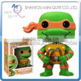 Mini Qute Funko Pop Amine Ninja Turtle Michelangelo super hero action figures cartoon models educational toy NO.FP 62